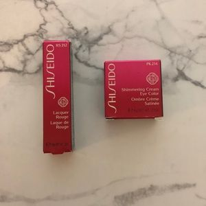 Shiseido Shimmering Eye Cream and Lacquer Rouge